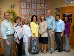 Our clinical and counseling staff, from the left: Bruce Saidman, M.D.; Carol Saidman Greenwald, NCC, LPC; Sally Alinikoff, NCC, LPC; Priscilla Cooney, CRNP; Katherine Arensmeyer, CRNP, AOCNP; David Greenwald, M.D.; David Askin, D.O.; and Angela Luongo, CRNP, CCRC.