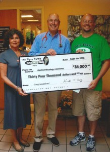 The Tipsy Turtle's Generous Contribution to MOA - Sept. 2013